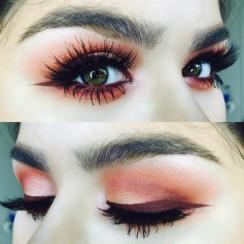 6atn9o-l-610x610-make-orangeeyeshadow-redeyeshadow-purpleeyeliner-eyeliner-eyes-lashes-colours-warmtones-warmcolours-pretty-sparklyeyeshadow-wingedeyeliner-mascara