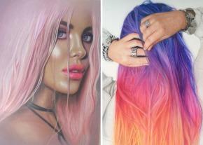 Aceasta artista creeaza cele mai colorate si realisteportrete